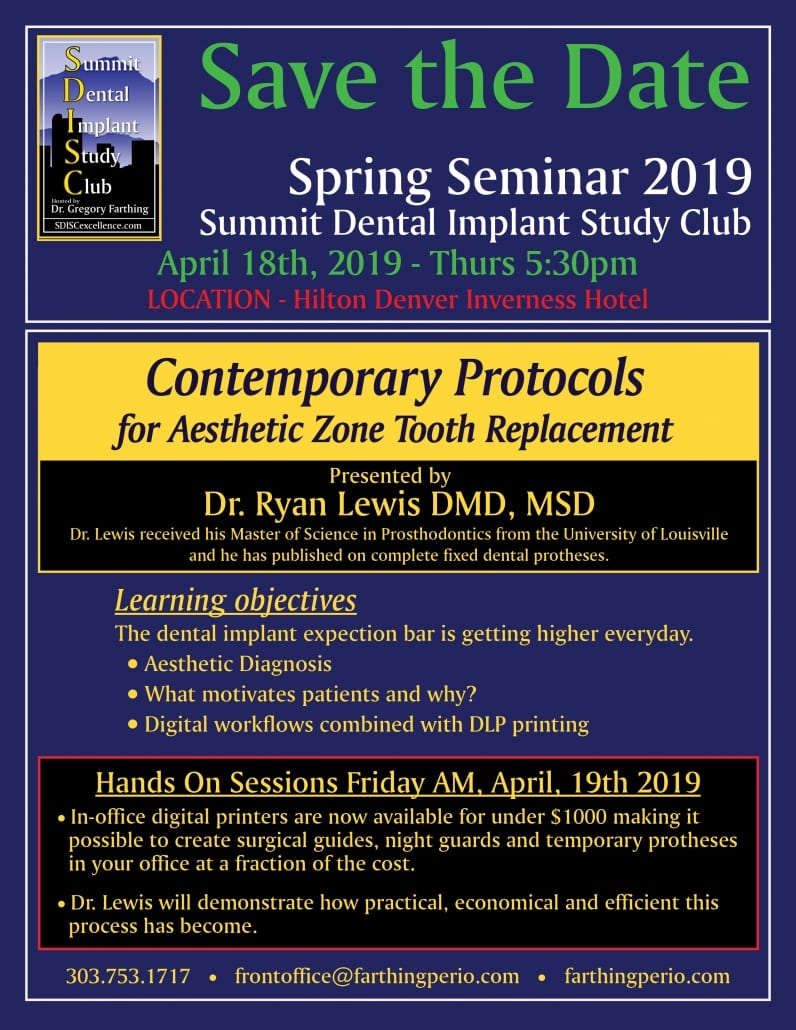 SAVE THE DATE Spring Seminar 2019